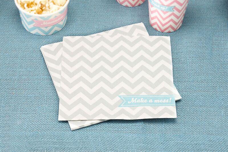 20 serviettes papier chevron divine 33 x 33 cm ginger ray
