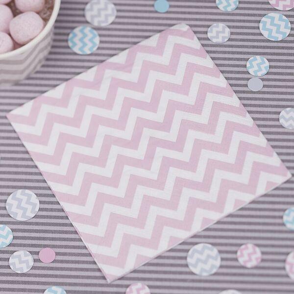 20 mini serviettes papier chevron divine 13 x 13 cm ginger