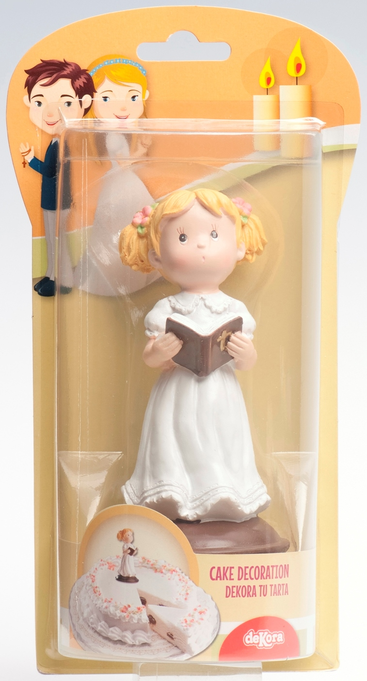 Decoration De Gateau Pour Communion Fille 12 Cm Dekora 308001