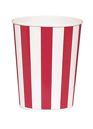 Small Popcorn Buckets  red and white   4 pces, 14 cm
