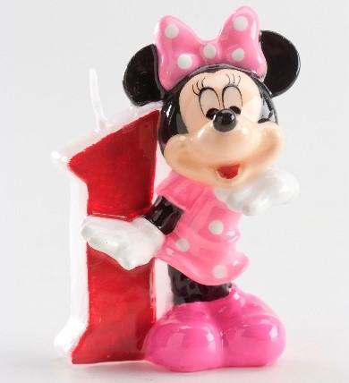 Bougie anniversaire numéro Minnie