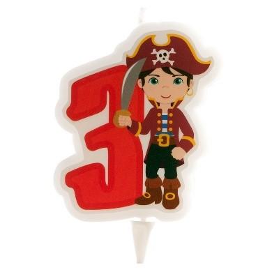 Bougie anniversaire numéro pirate