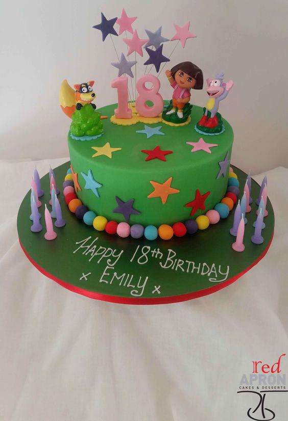 Gâteau d'anniversaire Dora