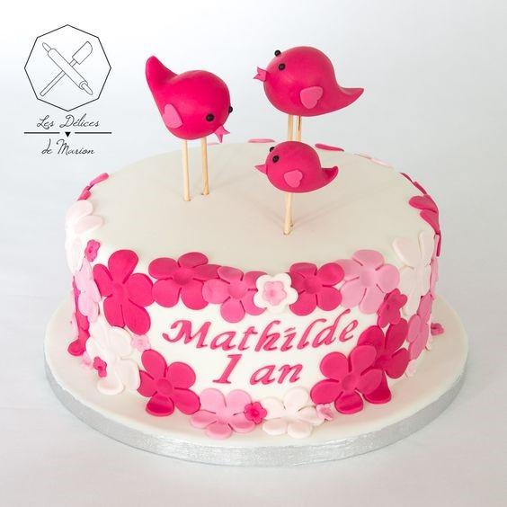 Gâteau d'anniversaire oiseaux