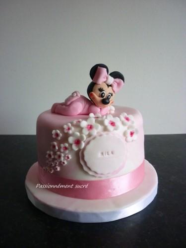 Gâteau d'anniversaire bébé Minnie