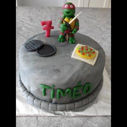 Gâteau d'anniversaire Tortues Ninja