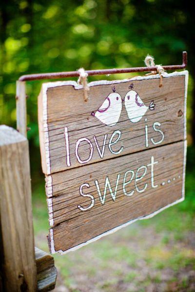 Love is sweet candy bar