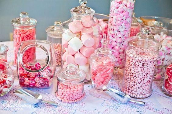 Bonbonnières roses