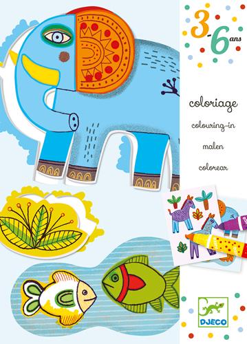 Djeco coloriage zoo zoo 5408990 creasweet vente et - Djeco coloriage ...