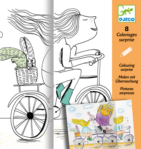 Djeco coloriages surprises mademoiselle 5409635end - Djeco coloriage ...