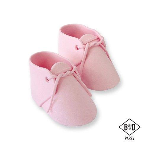 25ef242b5b348 PME CAKE TOPPER chaussons bébés rose en sucre PK 2 PME PM160PI pink ...
